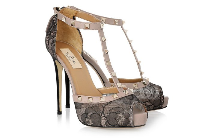 funky wedding shoes 2012 valentino black lace