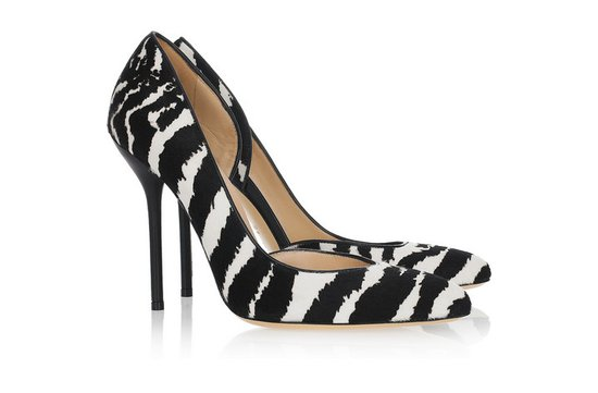photo of Gucci zebra heels