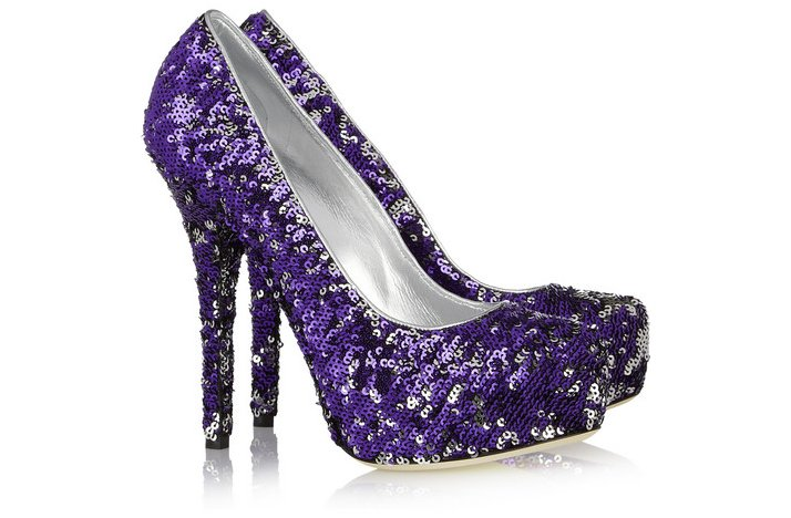 funky wedding shoes 2012 bridal heels purple sparkly
