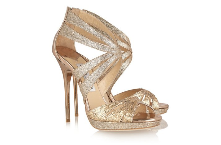 funky wedding shoes 2012 gold jimmy choos