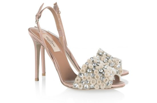 photo of Satin bridal sandals by Valentino