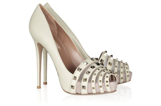 photo of Studded Valentino bridal pumps