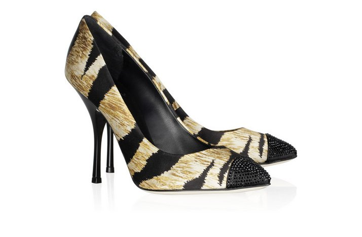 funky wedding shoes 2012 bridal heels animal print with crystals