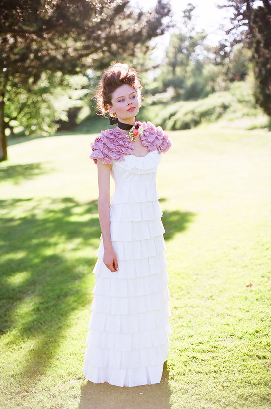 photo of Organic cotton wedding dress by Holly Stalder