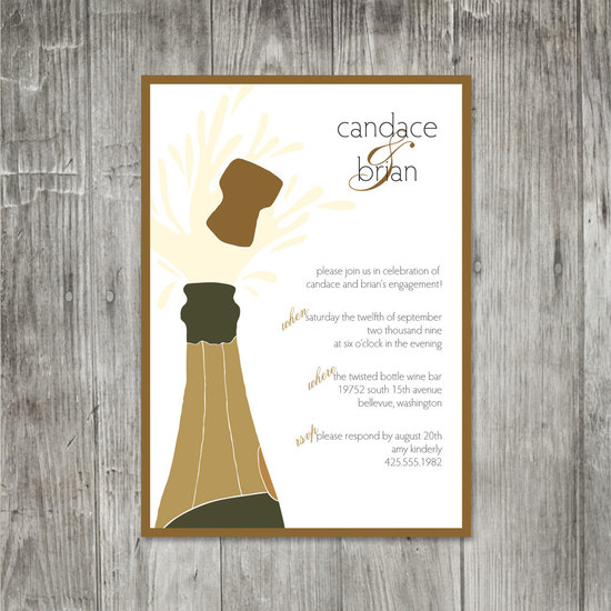 "photo of ""Pop The Cork"" Party Invitation from Etsy"