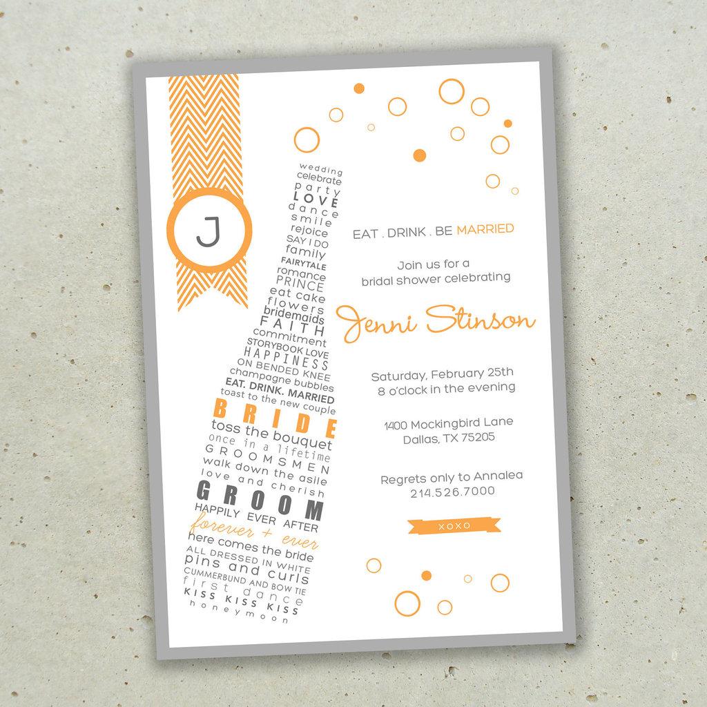 champagne wedding invitations modern gold grey