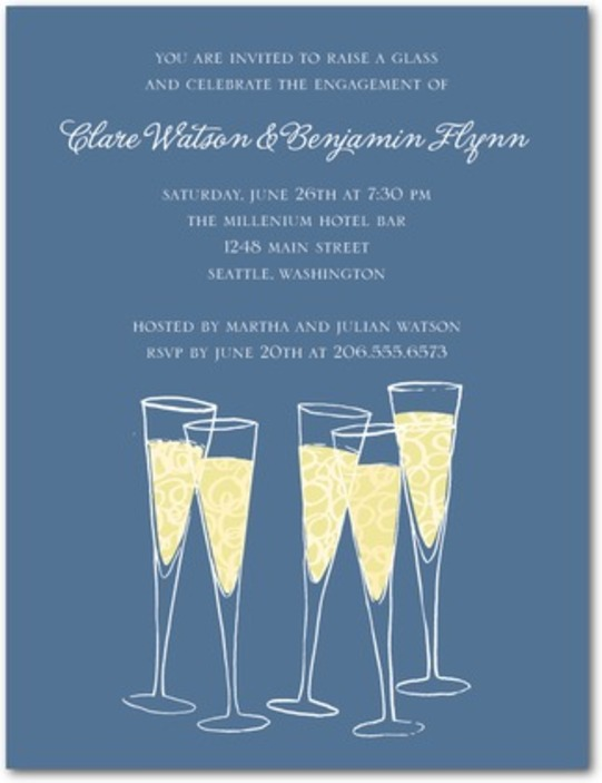 Pop The Cork Champagne Party Invitation