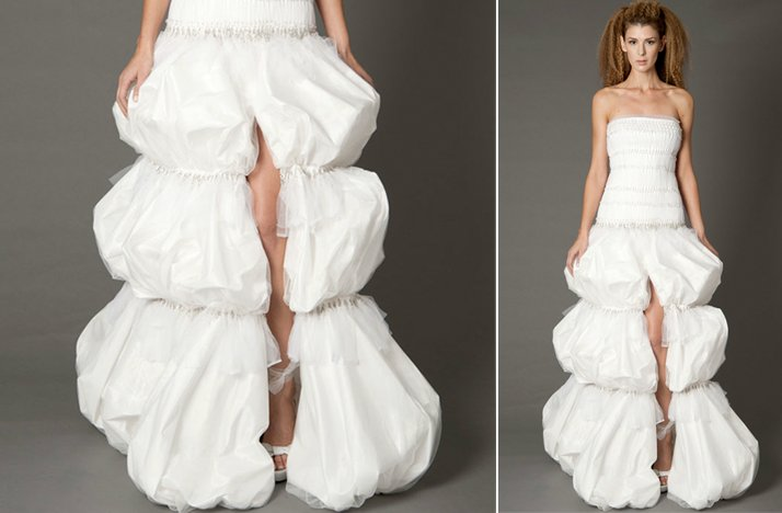 ugly wedding dresses 2012 too many poufs