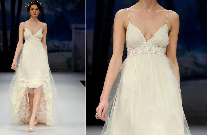wedding dresses too low cut