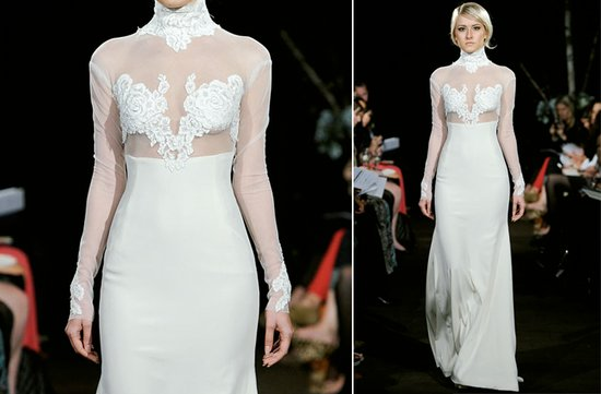 ugly wedding dresses 2012 sheer sleeves lace pasties