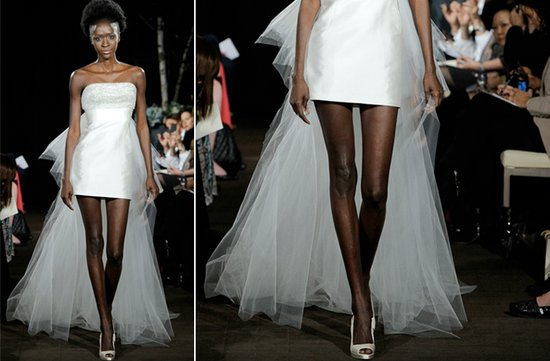 ugly wedding dresses of 2012 WAY too much leg