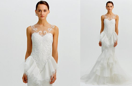 ugly wedding dresses 2012 mermaid with embellishment overload