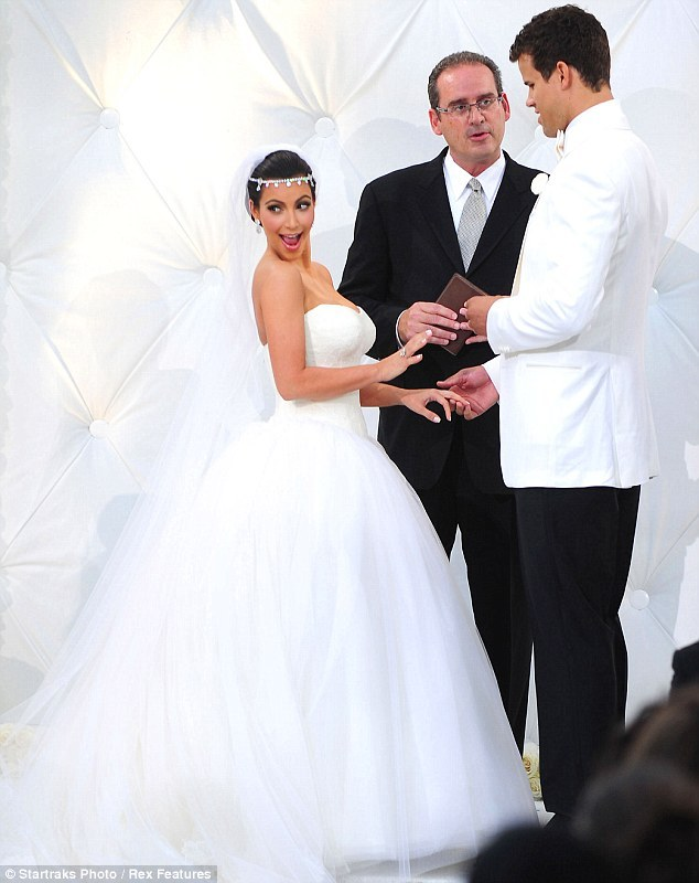 Kim Kardashian's ill-fated marriage: Is this the look of a truly happy bride?