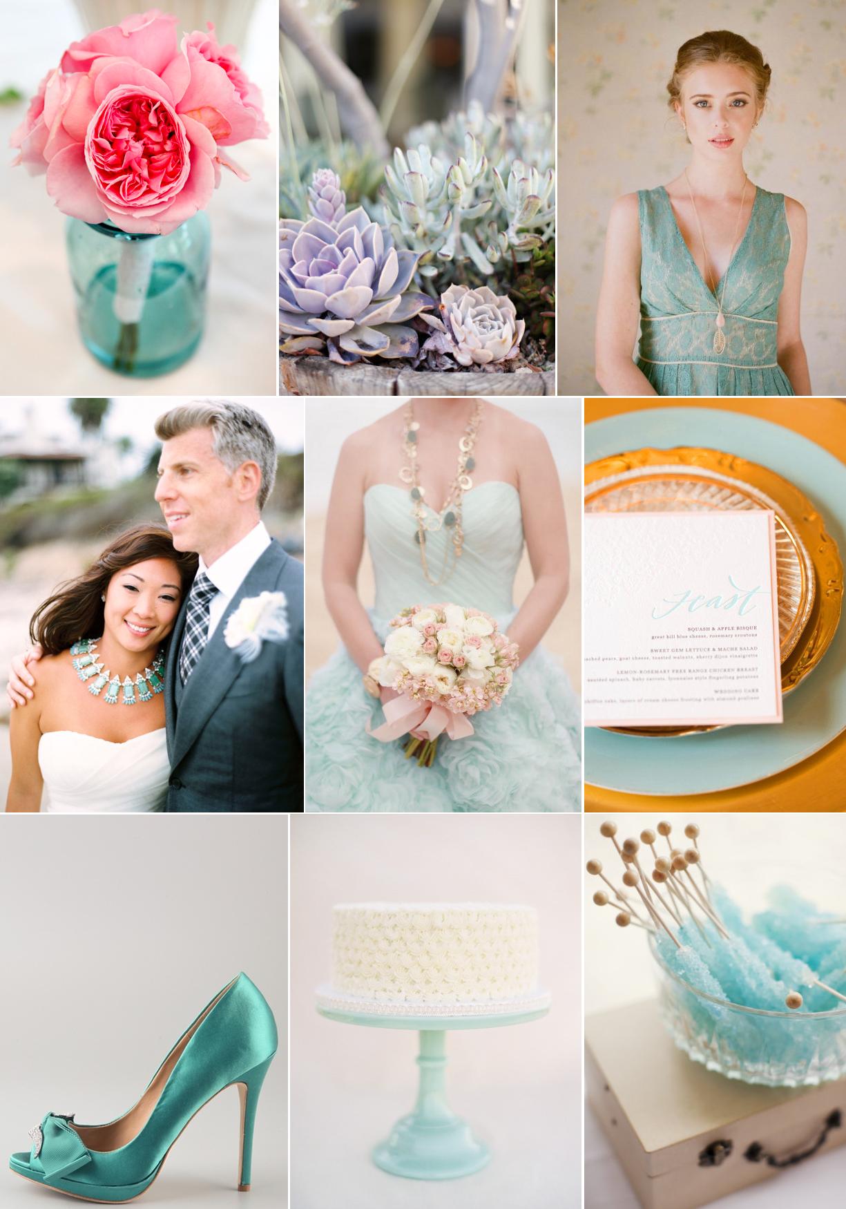 Cool mint green wedding inspiration - Colors that match mint green ...