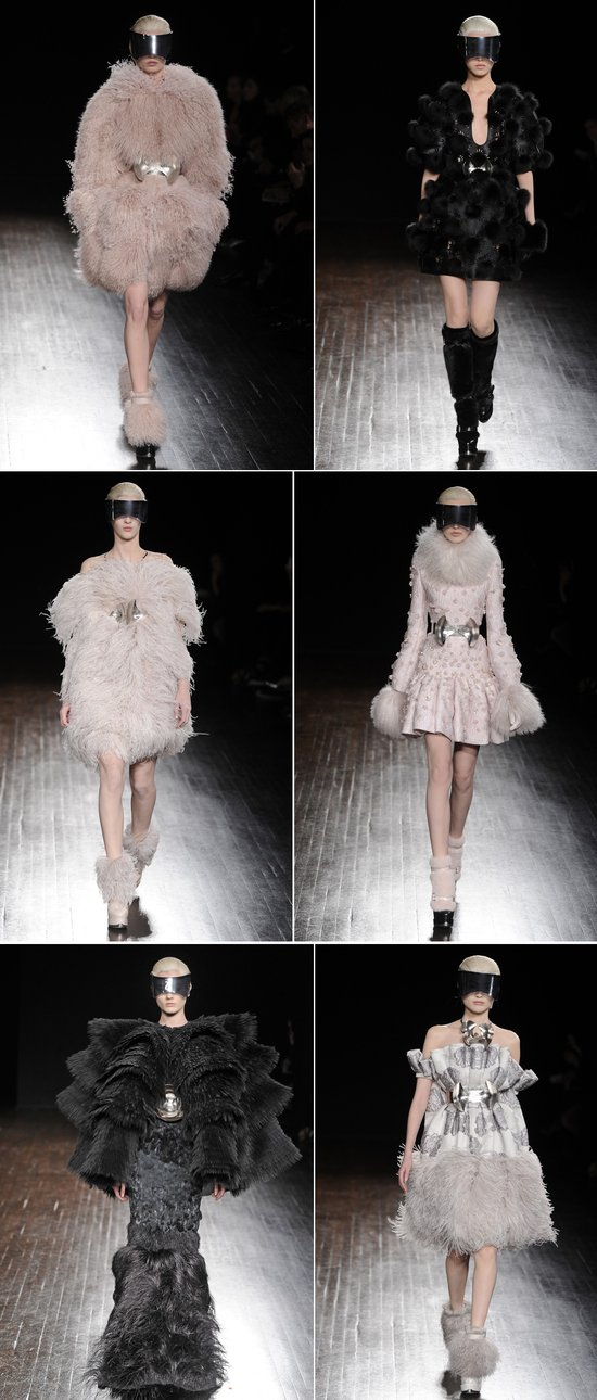 haute couture wedding inspiration lots of texture 2012 sarah burton for alexander mcqueen