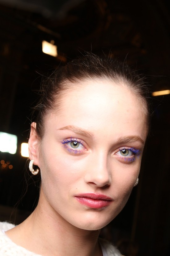backstage stella mccartney blue lashes
