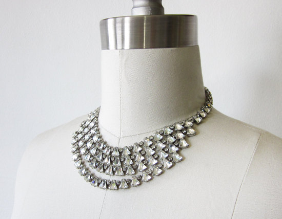 photo of 4-strand vintage bridal necklace
