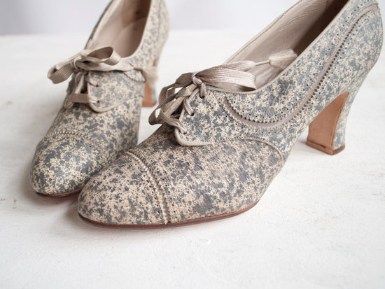 photo of Vintage bridal booties