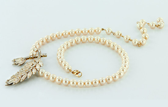 something old bridal necklace pearls