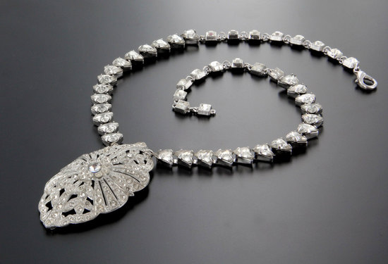 brides something old vintage art deco bridal necklace