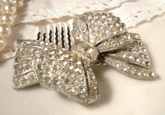 brides something old 1930s art deco wedding hair comb