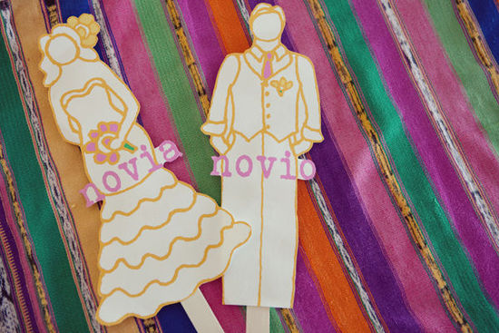 photo of new something for brides wedding day bride groom cutouts