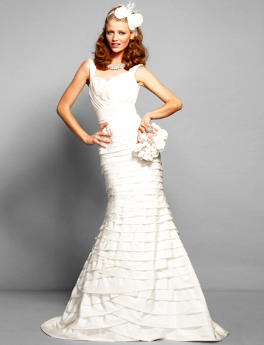 First look at Bebe's NEW wedding dress collection- tiered mermaid