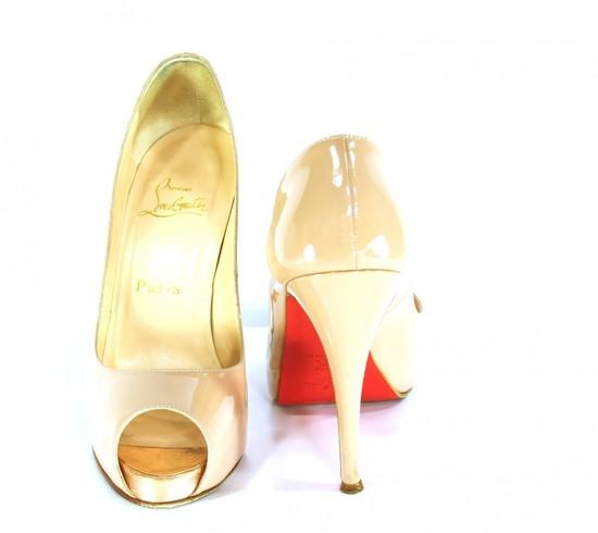photo of brides something old christian louboutin wedding heels