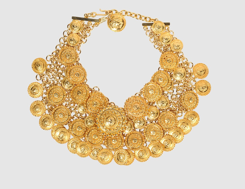 brides something old gold statement necklace vintage