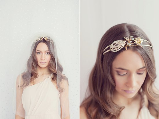 photo of Golden vintage bridal tiara