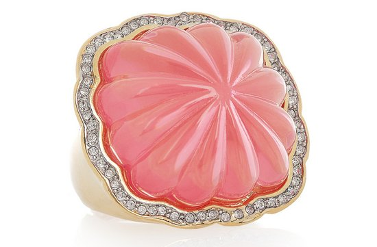 bridesmaid gift ideas pink gold cocktail ring