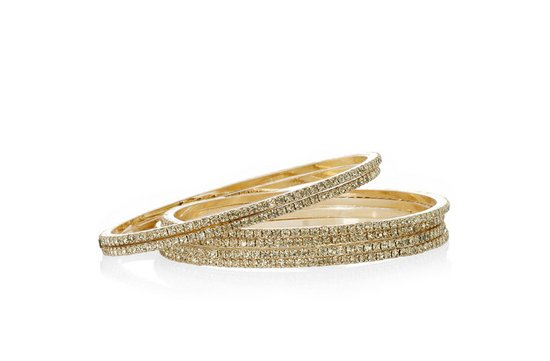 photo of 18 karat gold plated bangle set