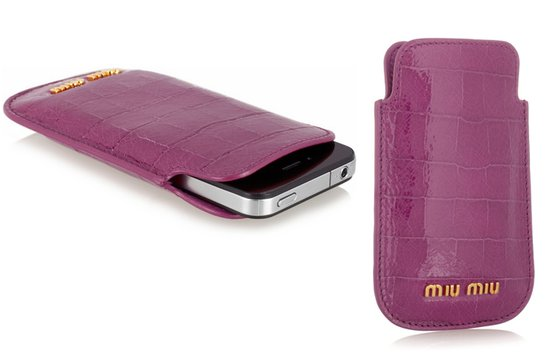 photo of Miu Miu iPhone case via Net-a-Porter