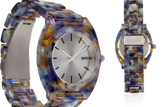 photo of Nixon watercolor watch via Net-a-Porter