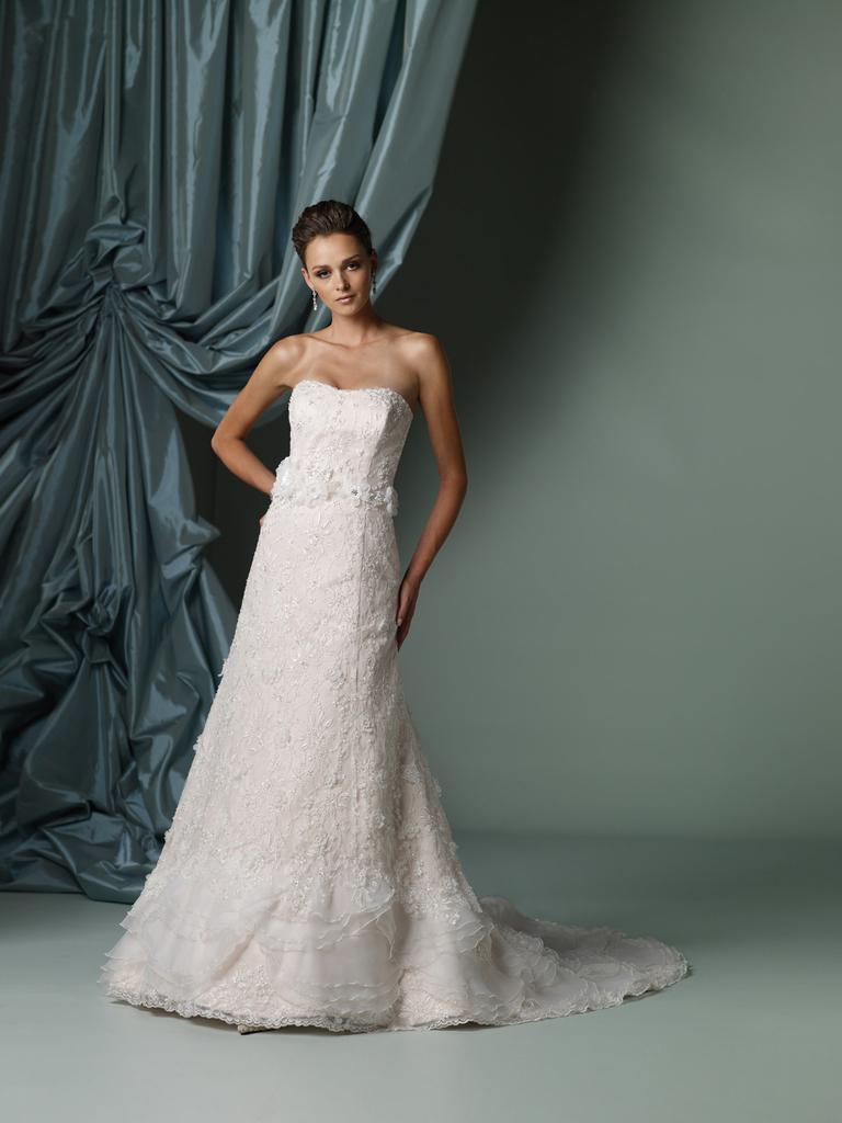 photo of 2012 wedding dress james clifford for mon cheri bridal gowns J11230