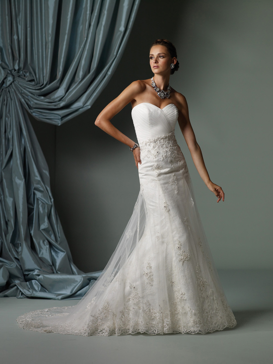 2012 wedding dress james clifford for mon cheri bridal gowns J11249