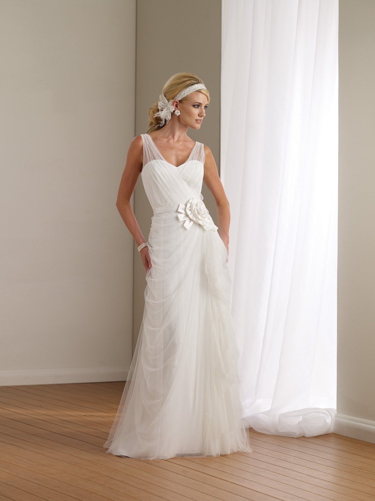 2012 wedding dress destinations mon cheri casual bridal for Casual informal wedding dress