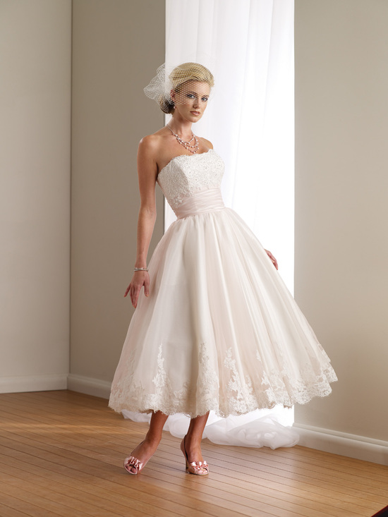 2012 wedding dress destinations mon cheri casual bridal gowns tea length 112108