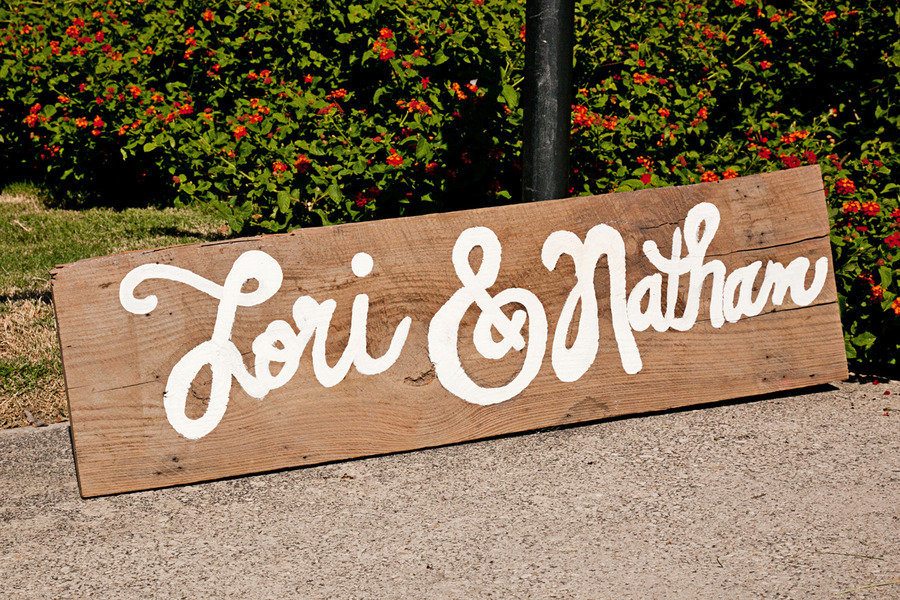 Funky-wedding-sign-outdoor-eco-friendly-wedding.full