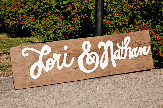 funky wedding sign outdoor eco friendly wedding