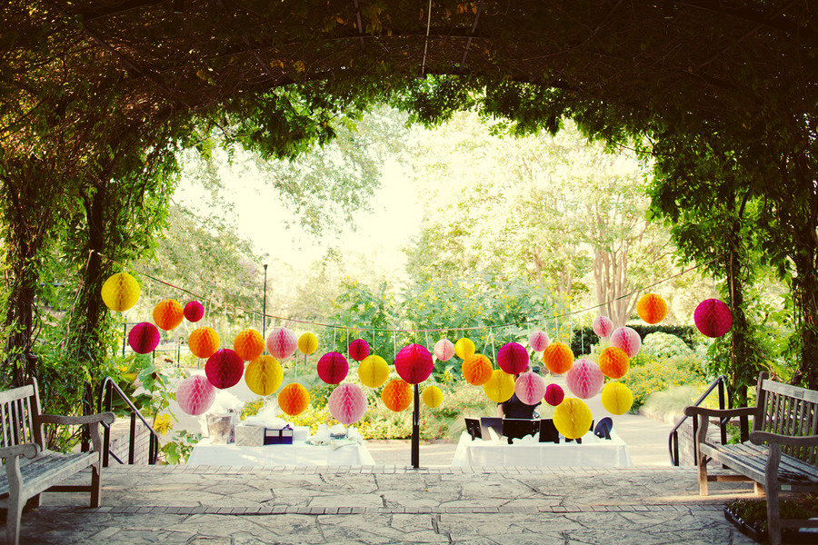 Whimsical outdoor wedding reception decor - Garden wedding ideas decorations ...