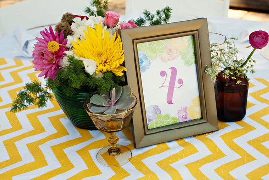 retro inspired wedding reception decor centerpieces
