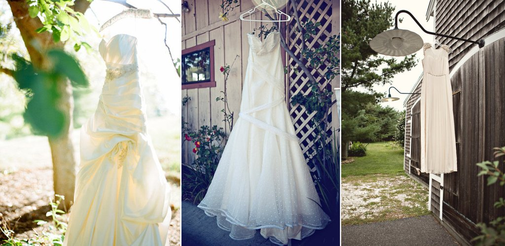 Wedding Photography Must Have Detail Shots For Brides Hanging Dress Outdoor Weddings