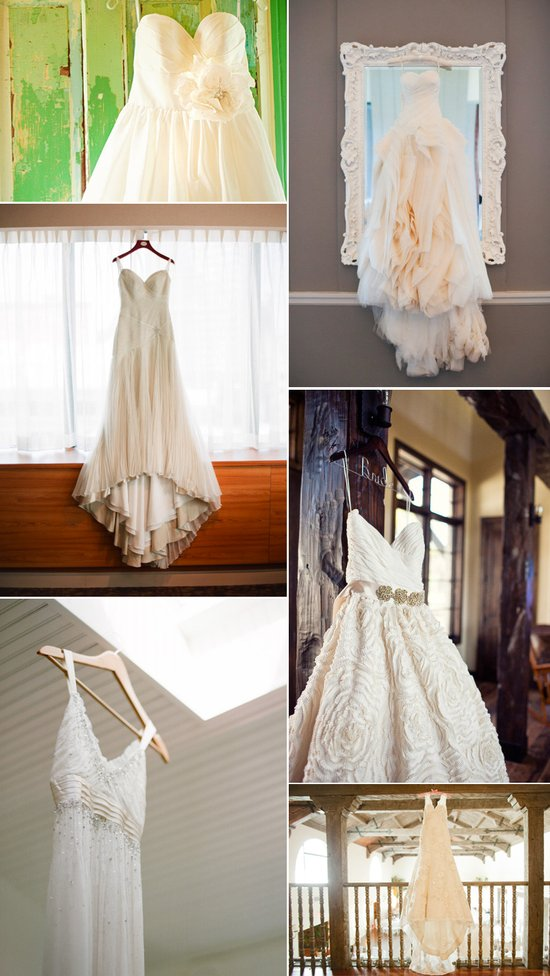 Must-have wedding photo- the hanging wedding dress shot