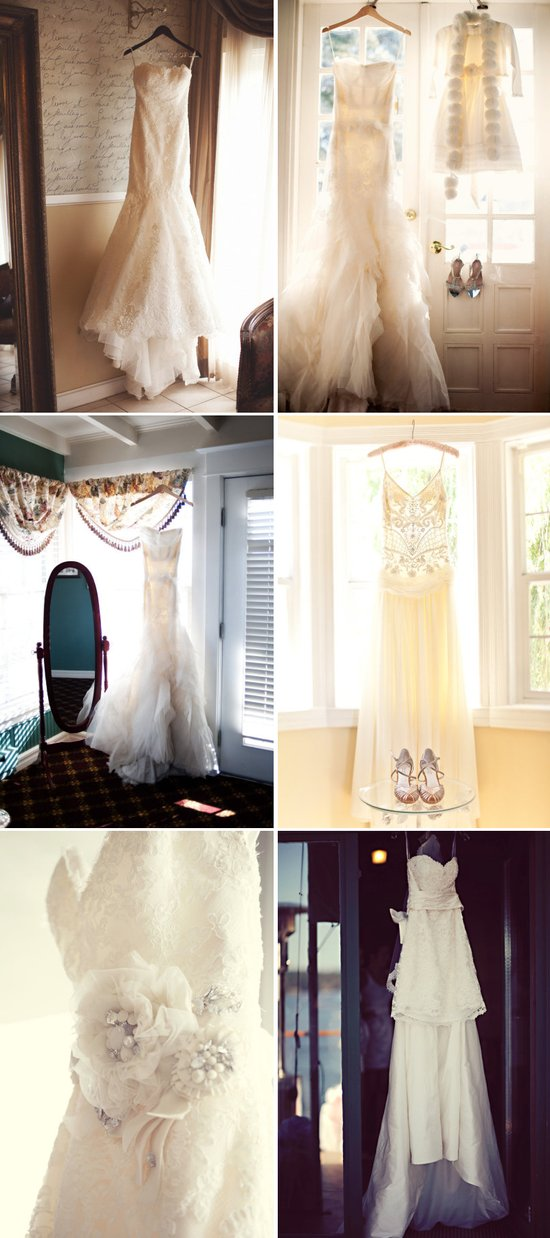wedding photography must have detail shots for brides hanging wedding dress 1