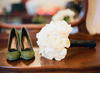 All-white-bridal-bouquet-green-wedding-shoes.square