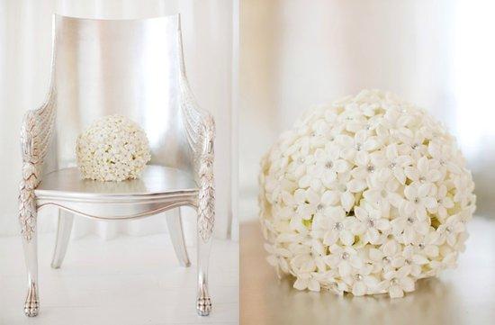 photo of Monochromatic Bridal Bouquets