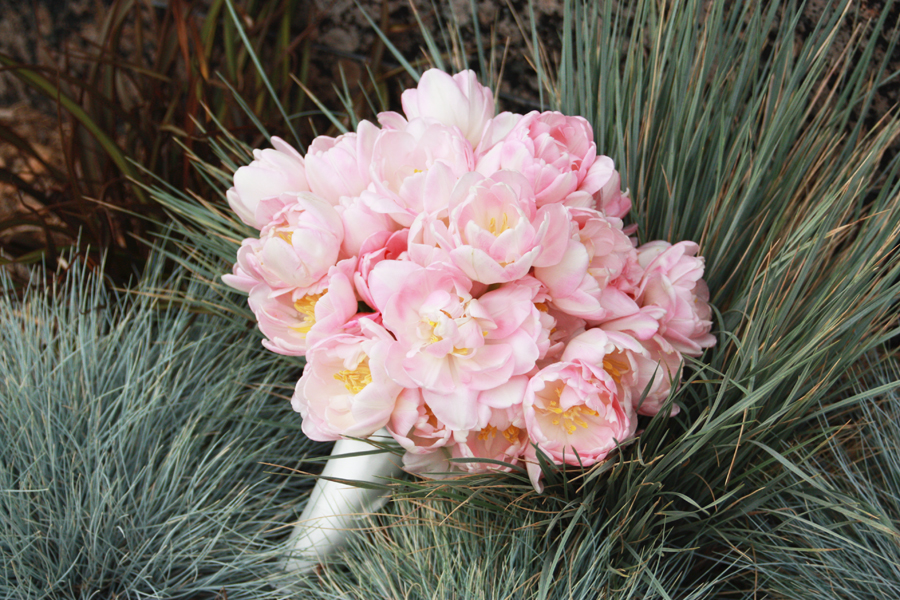 Light Pink Roses Wedding Bouquets : Monochromatic bridal bouquets wedding flowers light pink