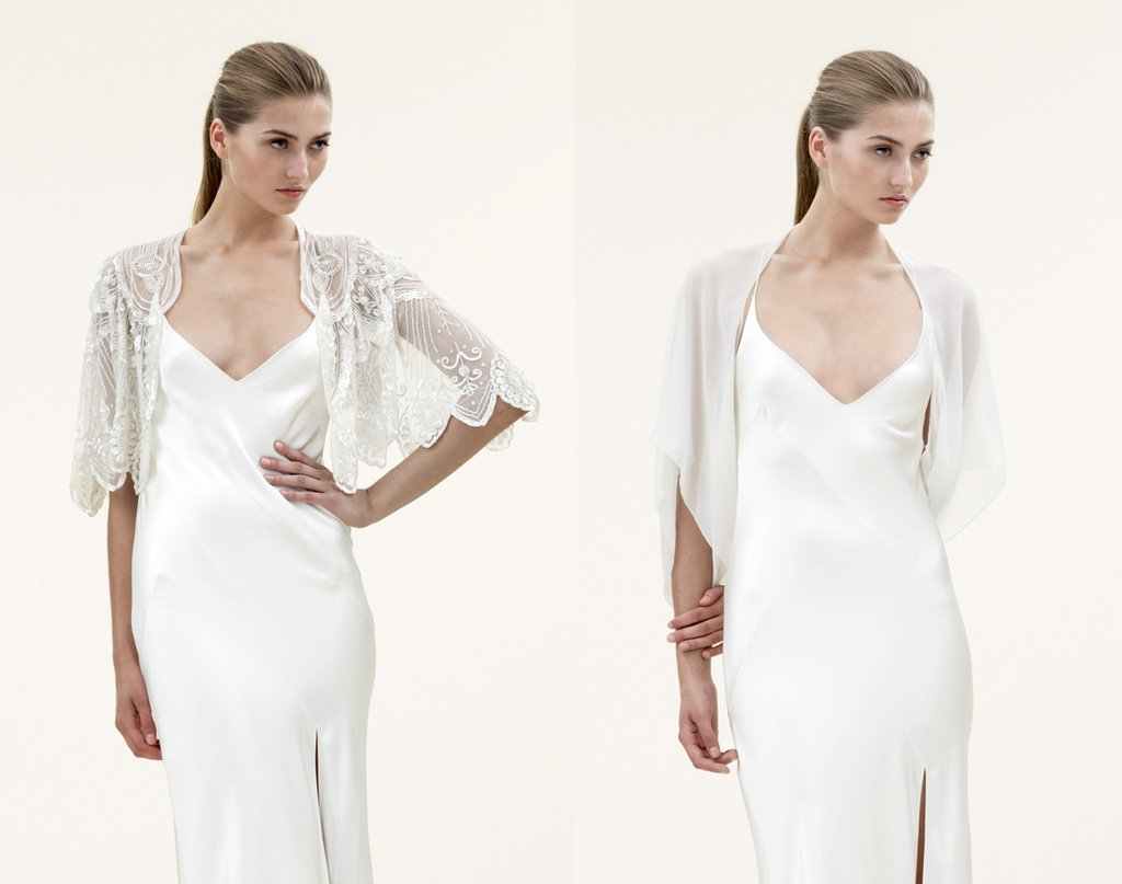 2012 wedding trends sheer bridal capes jenny packham