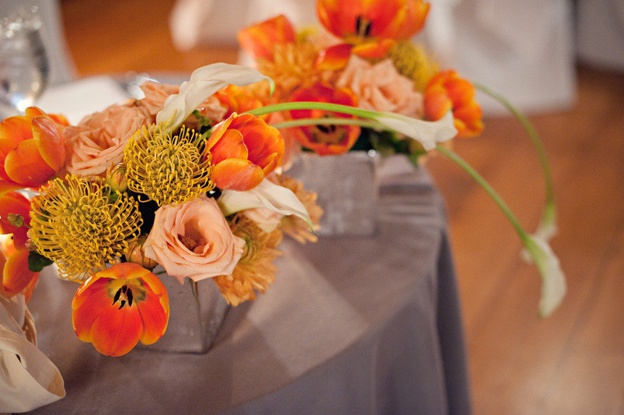 weddings by color orange wedding flowers